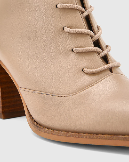 Scotty Sesame Leather Lace Up Ankle Boot
