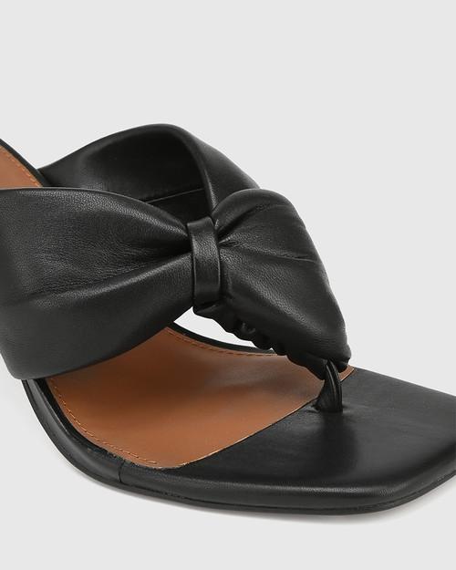 Contigo Black Leather Stiletto Heel Sandal & Wittner & Wittner Shoes