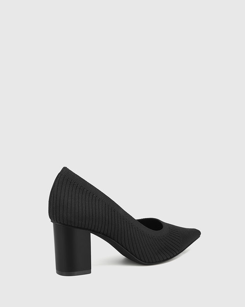 Perfection Black Recycled Knit Pump & Wittner & Wittner Shoes