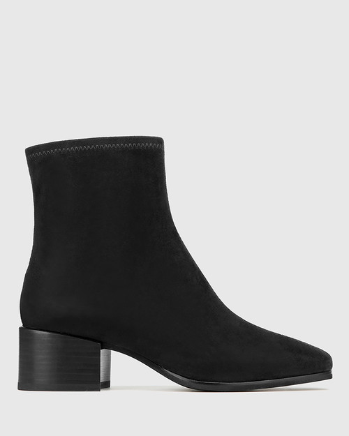Olyvier Black Suede Leather Ankle Boot & Wittner & Wittner Shoes