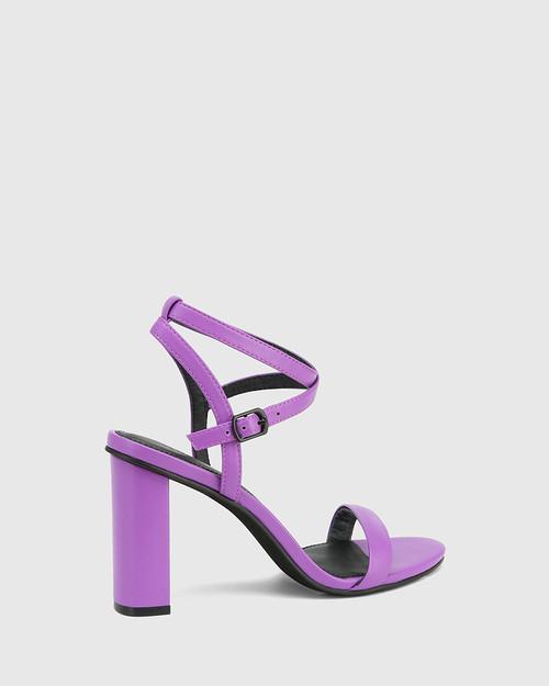 Raven Amethyst Leather Open Toe Block Heel & Wittner & Wittner Shoes