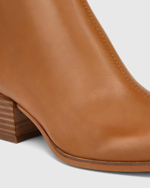 Olyvier Tan Leather Ankle Boot & Wittner & Wittner Shoes