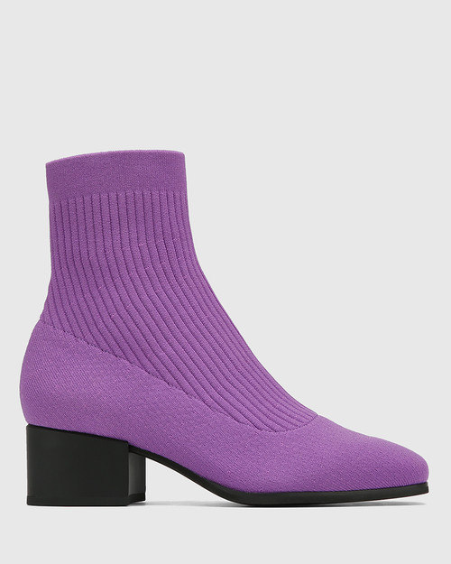Orbit Amethyst Recycled Knit Ankle Boot & Wittner & Wittner Shoes