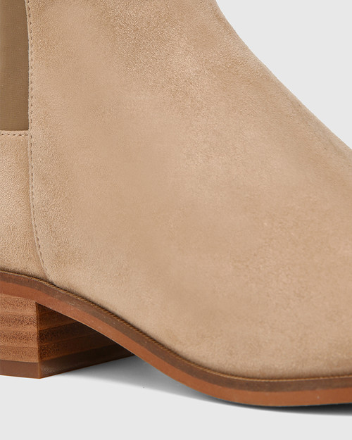 Gianna Camel Suede Leather/Neoprene Stretch Over The Knee Boot & Wittner & Wittner Shoes
