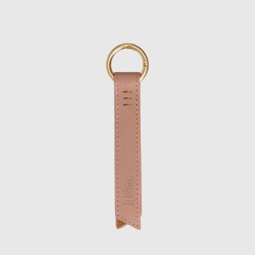 Libbie Petal Pink Leather Keyring