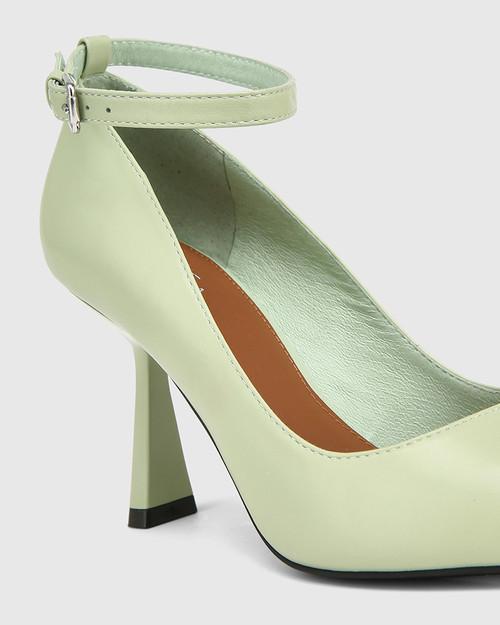 Quinti Leaf Green Leather Stiletto Heel Pump & Wittner & Wittner Shoes