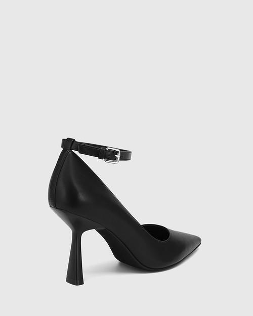 Quinti Black Leather Stiletto Heel Pump & Wittner & Wittner Shoes
