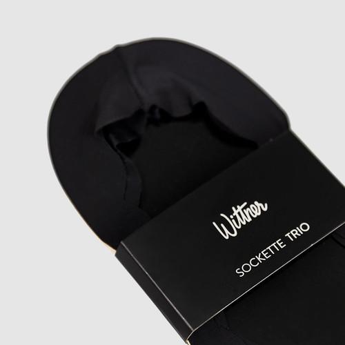 Scallop Sockette Trio Black/Natural Nylon & Wittner & Wittner Shoes