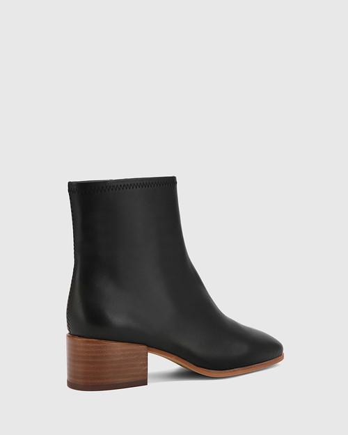 Olyvier Black Soft Leather Ankle Boot. & Wittner & Wittner Shoes