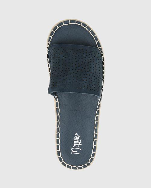Evonne French Navy Suede Espadrille Slide. & Wittner & Wittner Shoes