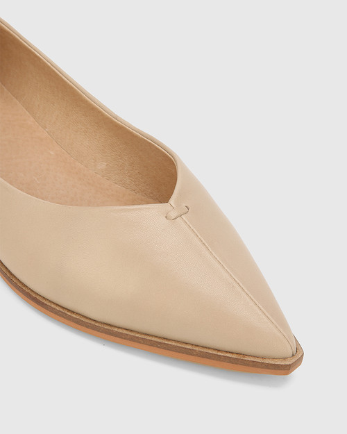 Miley Cosmetic Leather Pointed Toe Flat. & Wittner & Wittner Shoes