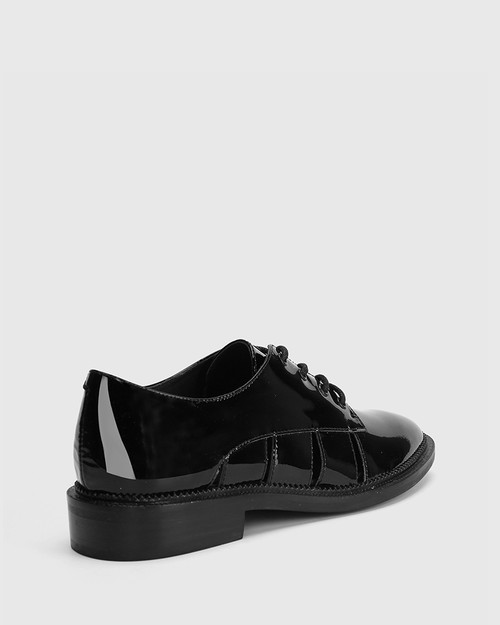 Camira Black Patent Leather Cut Out Brogue. & Wittner & Wittner Shoes