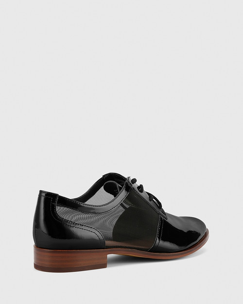 Hektor Black Leather Mesh Cut Out Brogue. & Wittner & Wittner Shoes