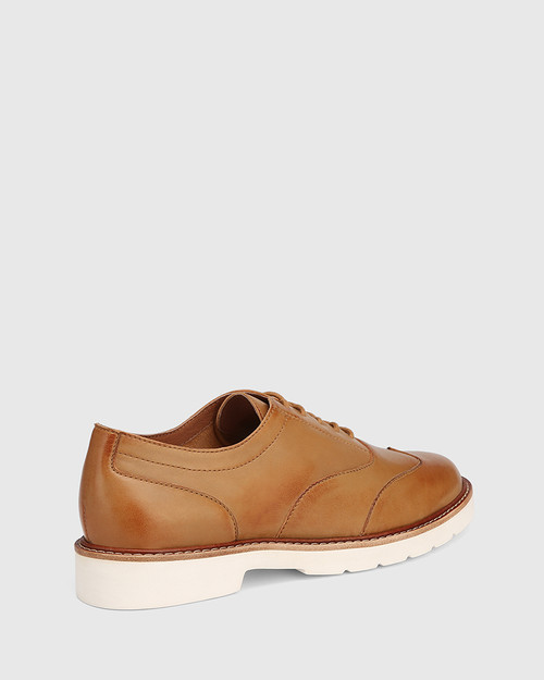 Divo Tan Leather Lace Up Brogue