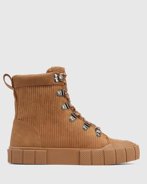 Xeno Tan Corduroy High Top Sneaker
