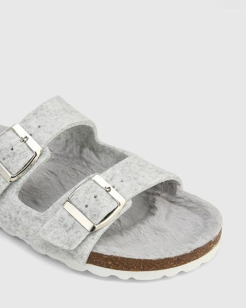 Uro Grey Recycled Felt Slide