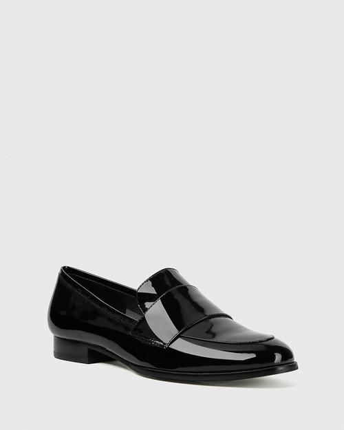 Dacey Black Patent Loafer. & Wittner & Wittner Shoes
