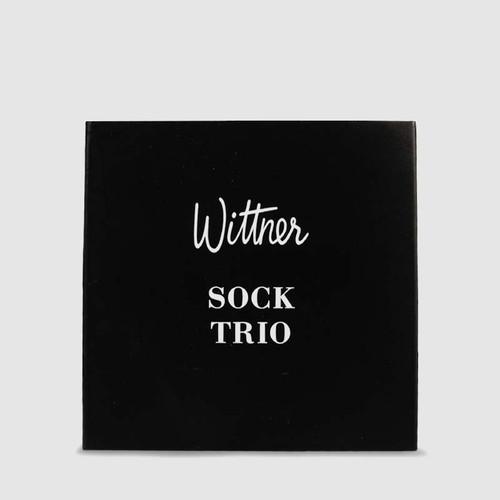 Ankle Sock Trio in Black Nylon . & Wittner & Wittner Shoes