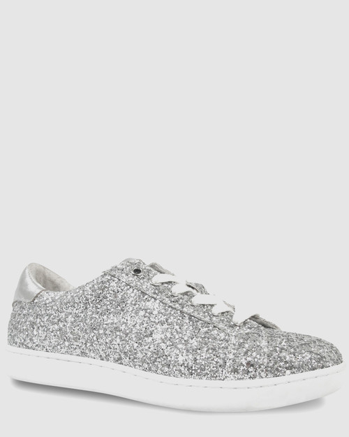 Allie Silver Glitter Sneaker. & Wittner & Wittner Shoes
