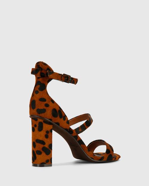 Rivera Leopard Printed Hair On Leather Block Heeled Sandal. & Wittner & Wittner Shoes