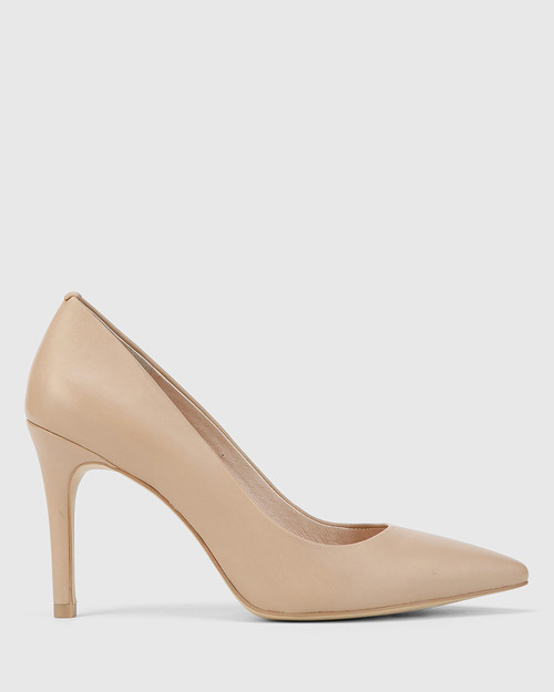 Harman Nude Leather Pointed Toe Stiletto Heel. & Wittner & Wittner Shoes