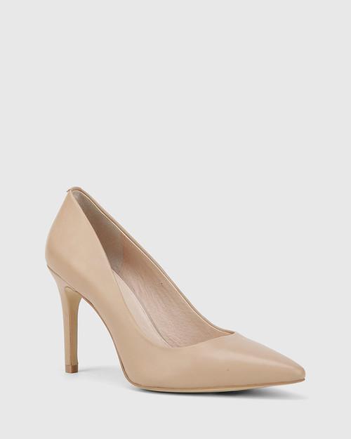 Harman Nude Leather Pointed Toe Stiletto Heel.