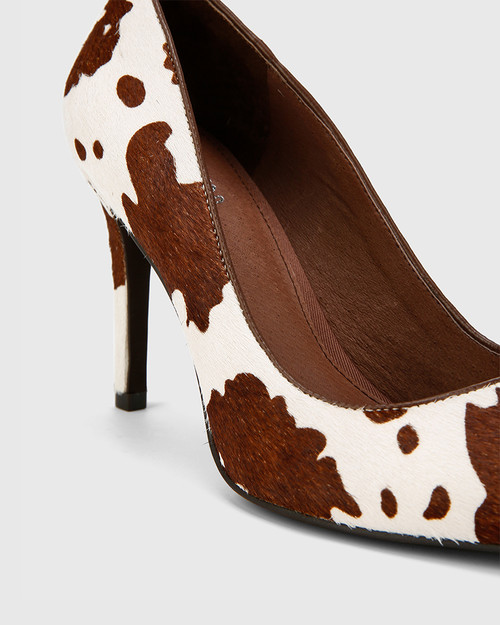 Hilson Cow Print Hair On Leather Stiletto Heel. & Wittner & Wittner Shoes