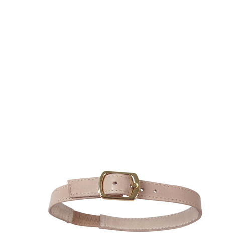 Justine Nude Leather Silver Buckle Shoe Harness.