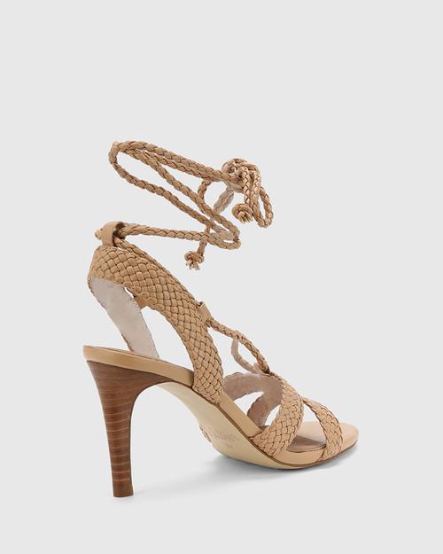Ibitha Nude Weave Stiletto Heel Sandal. & Wittner & Wittner Shoes