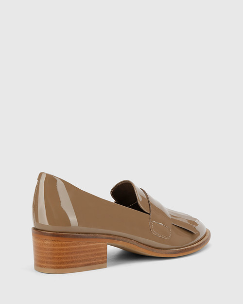 Fernley Mocha Patent Almond Toe Loafer