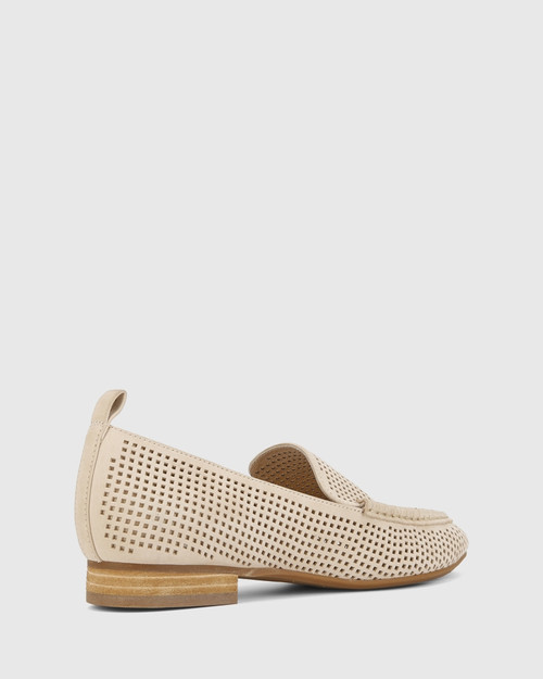 Aroya Musk Leather Perforated Loafer.
