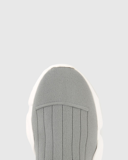 Anniston Grey Stretch High Top Sneaker. & Wittner & Wittner Shoes