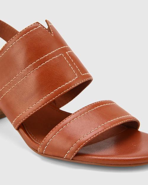 Izana Bourbon Leather Block Heel Sandal. & Wittner & Wittner Shoes
