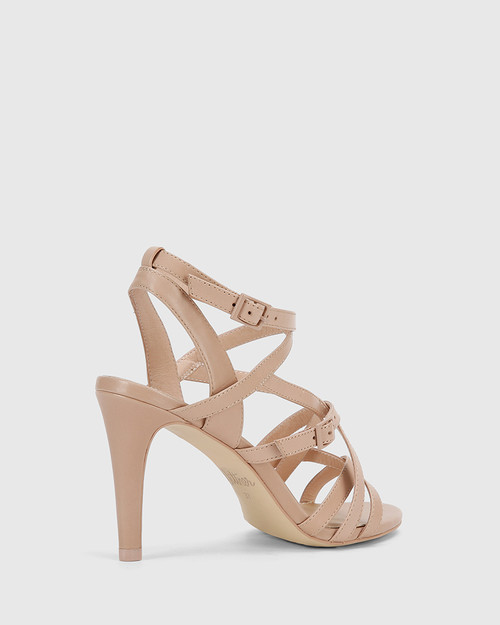 Remo New Flesh Leather Strappy Stiletto Heel Sandal