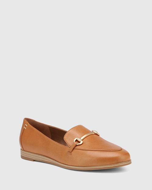 Crimson Coconut Leather Gold Trim Loafer & Wittner & Wittner Shoes