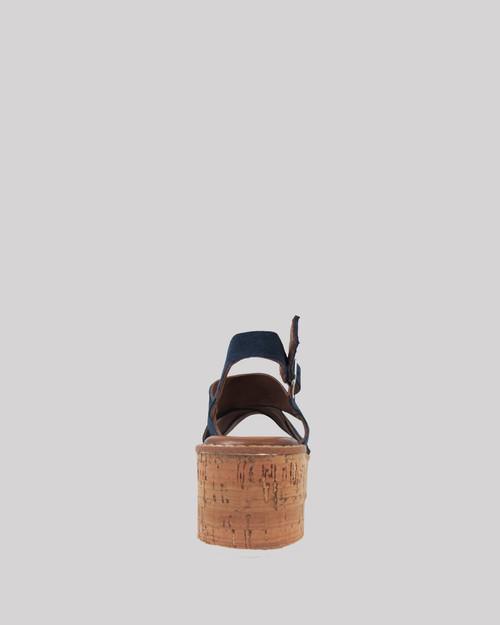 Kimmel Navy Suede Open Toe Cork Platform Sandal. & Wittner & Wittner Shoes
