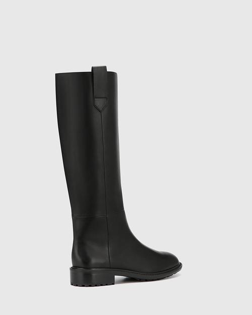 Dericka Black Leather Long Boot & Wittner & Wittner Shoes