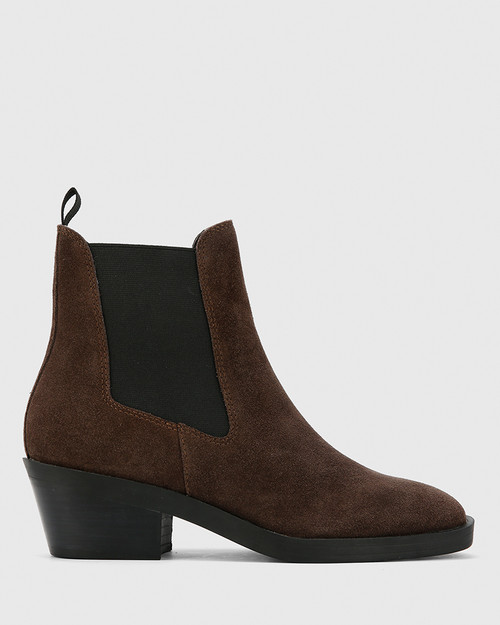 Isaac Grey Suede Leather Pull On Ankle Boot . & Wittner & Wittner Shoes