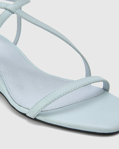 Decker Sky Blue Nappa Leather Wedge Heel Sandal. & Wittner & Wittner Shoes