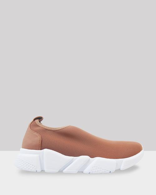 Del Nude Mesh Slip On Sneaker.