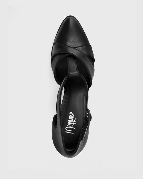 Wilde Black Leather Mary Jane Block Heel. & Wittner & Wittner Shoes
