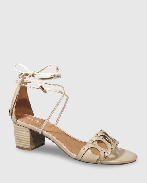 Augusta Tan Leather Block Heel Sandal. & Wittner & Wittner Shoes