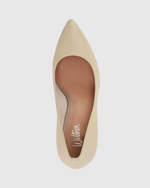 Haydens Honey Leather Pointed Closed Toe Block Heel. & Wittner & Wittner Shoes