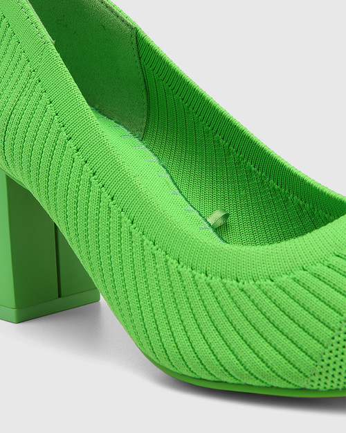 Perfection Kermit Green Recycled Knit Pump. & Wittner & Wittner Shoes