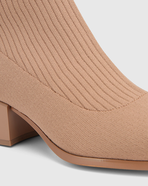 Orbit Sunkissed Tan Recycled Flyknit Ankle Boot