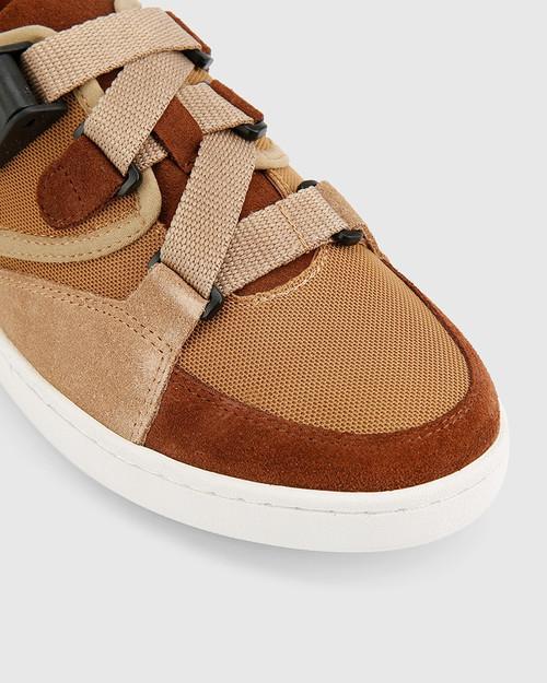 Gazelle Brown Suede & Mesh Sneaker. & Wittner & Wittner Shoes