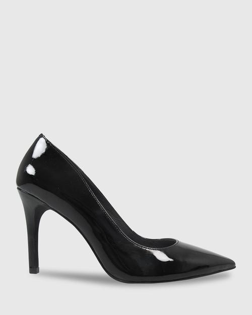 Harman Black Patent Pointed Toe Stiletto Heel. & Wittner & Wittner Shoes