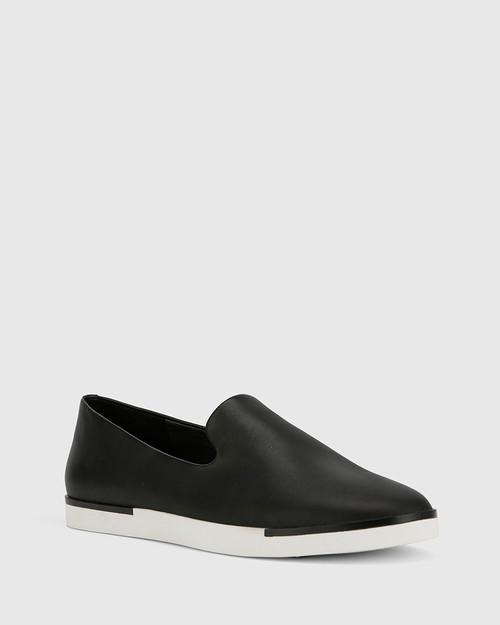 Adrian Black Leather Loafer. & Wittner & Wittner Shoes