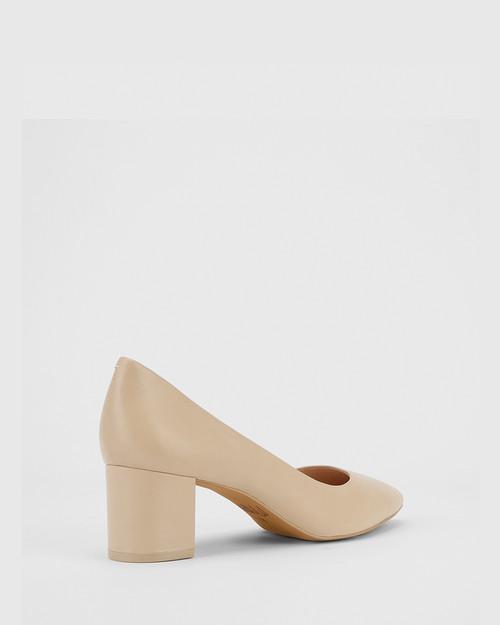 Liona Honey Leather Pointed Toe Mid Heel. & Wittner & Wittner Shoes