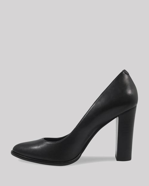 Willa Black Leather Almond Toe Block Heel. & Wittner & Wittner Shoes